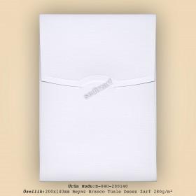 20x14cm Beyaz Branco Tuale Desen Zarf 280gr/m²