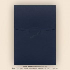 20x14cm Lacivert Paspartu Desen Zarf 250gr/m²