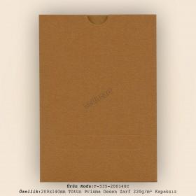 20x14cm Tarçın Prizma Zarf 220gr/m² Kapaksız