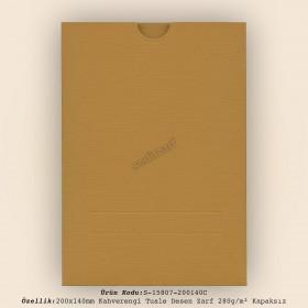 20x14cm Tarçın Tuale Desen Zarf 280gr/m² Kapaksız