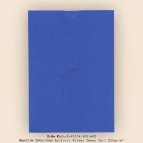 20x14cm Lacivert Prisma Desen Zarf 220gr/m² Kapaksız