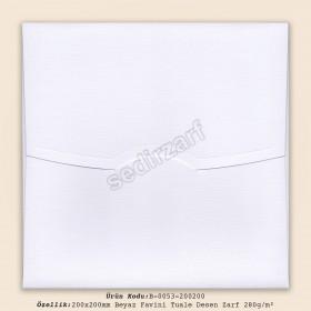 20x20cm Beyaz Favini Tuale Zarf 280gr/m²