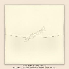 20x20cm Krem Tuff Desen Zarf 280gr/m²