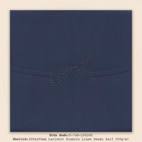 20x20cm Lacivert Diabolo Lines Desen Zarf 250gr/m²