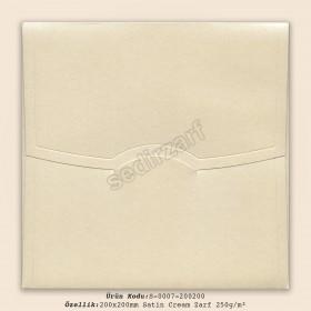 20x20cm Satin Cream Zarf 250gr/m²