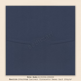 20x20cm Lacivert Tinteretto Desen Zarf 250gr/m²