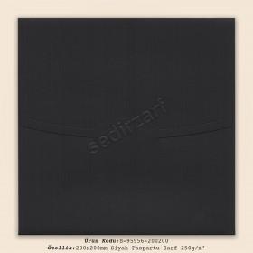 20x20cm Siyah Paspartu Zarf 250gr/m²