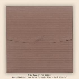 21x21cm Kahve Diabolo Lines Desen Zarf 250gr/m²