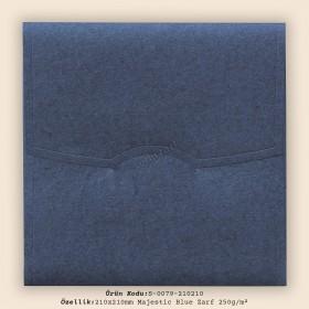 21x21cm Majestic Blue Zarf 250g/m²