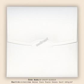 21x21cm Beyaz  İnce Tuale Desen Zarf 280gr/m²