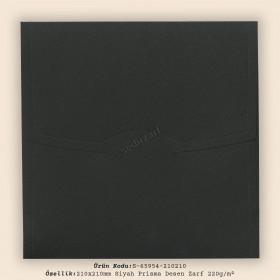 21x21cm Siyah Prisma Desen Zarf 220gr/m²