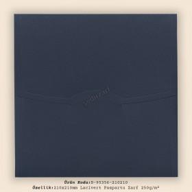 21x21cm Lacivert Paspartu Zarf 250gr/m²