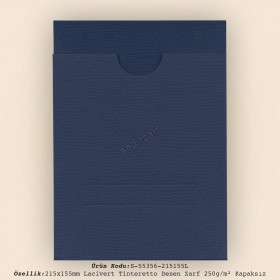 21,5x15,5cm Lacivert Tinteretto Desen Zarf 250gr/m² Kapaksız