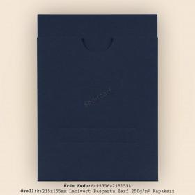21,5x15,5cm Lacivert Paspartu Zarf 250gr/m² Kapaksız