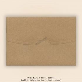 21,5x30,5cm Kraft Zarf 200gr/m²