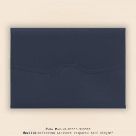 21,5x30,5cm Lacivert Paspartu Zarf 250gr/m²