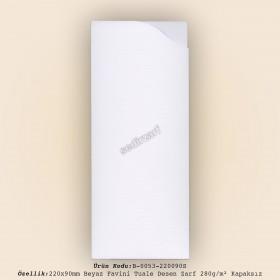 22x9cm Beyaz Favini Tuale Zarf 280gr/m² Kapaksız
