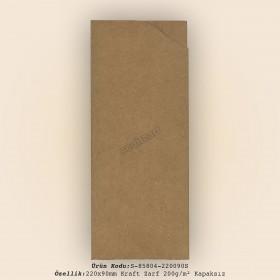 22x9cm Kraft Zarf 200gr/m² Kapaksız