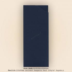 22x9cm Lacivert Paspartu Zarf 250gr/m² Kapaksız