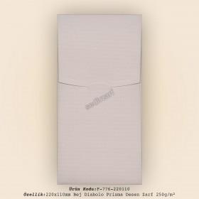 22x11cm Bej Diabolo Prisma Desen Zarf 250gr/m²