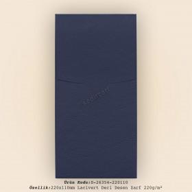 22x11cm Lacivert Deri Desen Zarf 220gr/m²