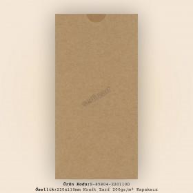 22x11cm Kraft Zarf 200gr/m² Kapaksız
